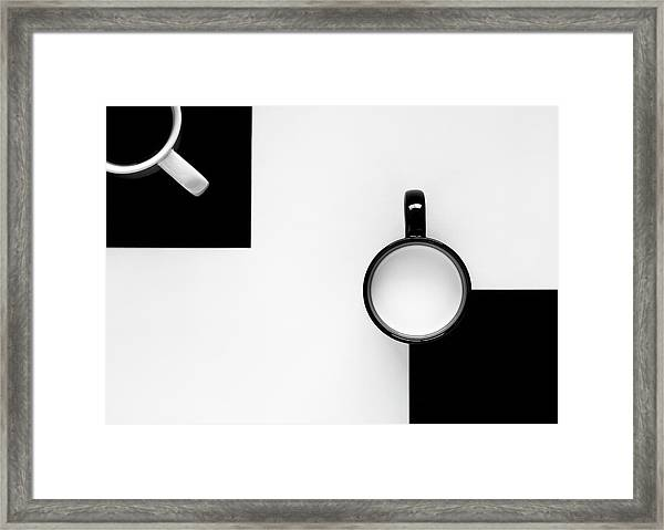 Cups Framed Print by Jozef Kiss