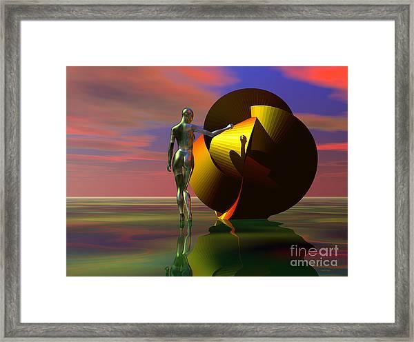Curiosity Framed Print by Sandra Bauser Digital Art