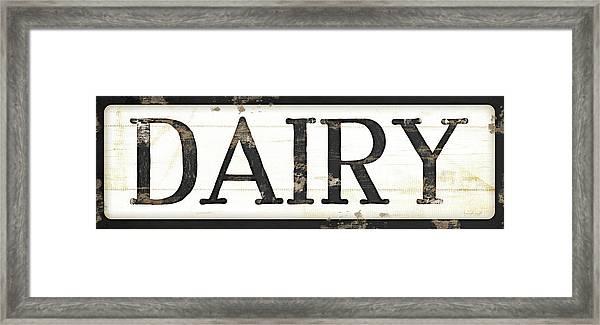 Dairy Framed Print