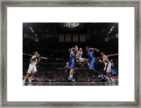 Dallas Mavericks V San Antonio Spurs - Framed Print