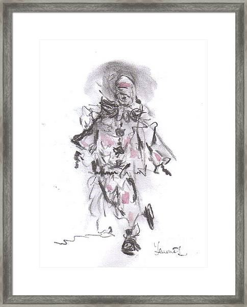 Dancing Clown Framed Print
