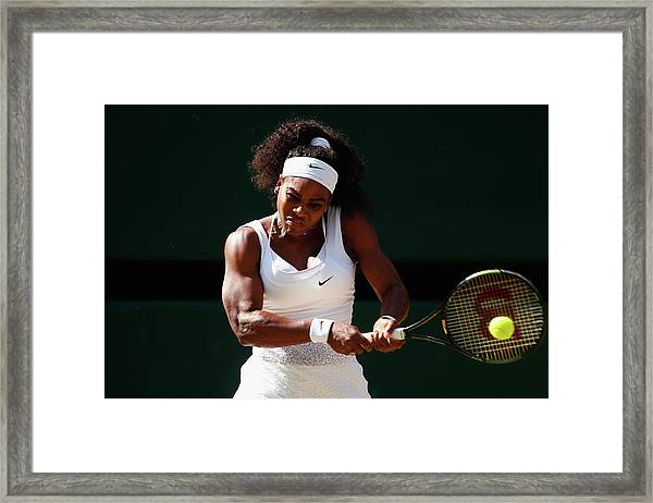 Day Ten The Championships - Wimbledon Framed Print