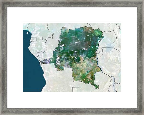 Democratic Republic Of The Congo Framed Print