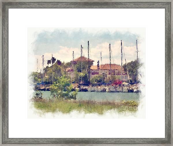 Detroit Yacht Club Framed Print