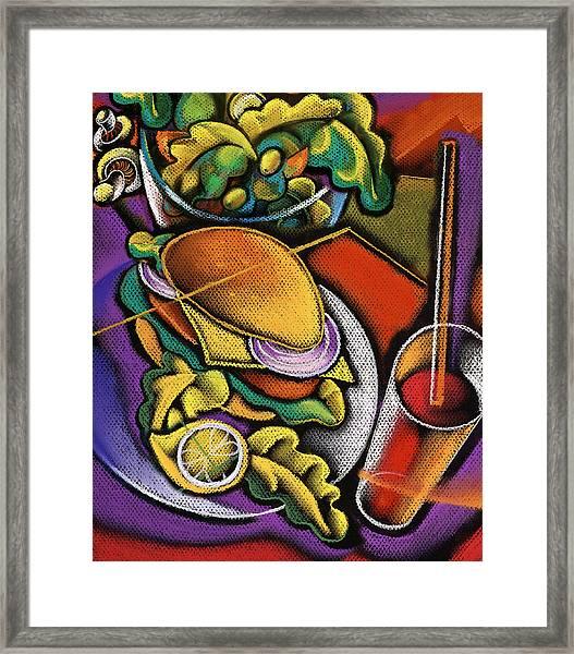 Food And Beverage Framed Print