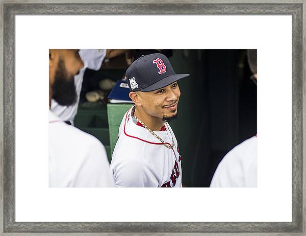 Divisional Round - Houston Astros V Boston Red Sox - Game Four Framed Print by Billie Weiss/Boston Red Sox
