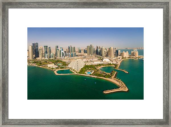 Doha, Qatar Framed Print by Midhat Mujkic