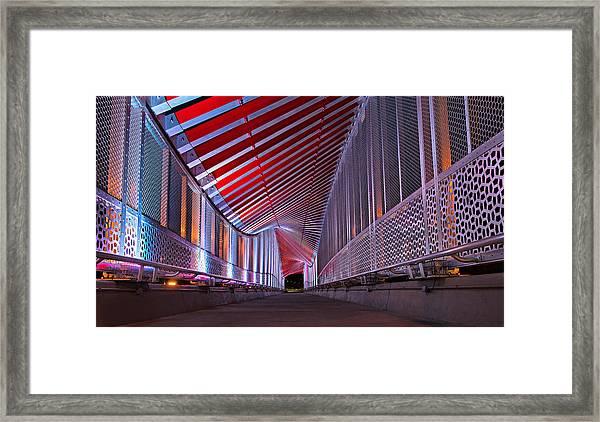 Double Helix Footbridge Framed Print
