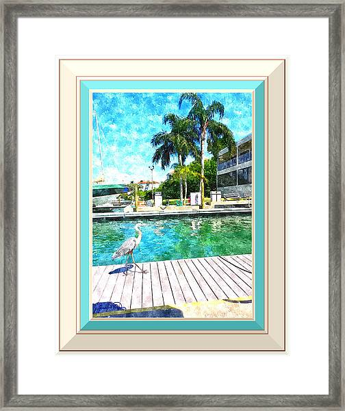 Dry Dock Bird Walk - Digitally Framed Framed Print