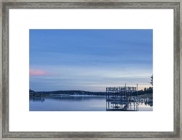 Early Morning At The Lake Framed Print