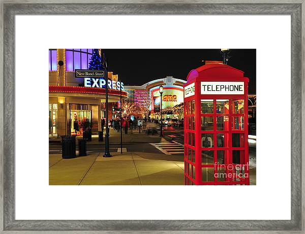 D65l-162 Easton Town Center Photo Framed Print