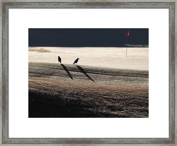 Eighteenth Hole Framed Print by Monika A Leon
