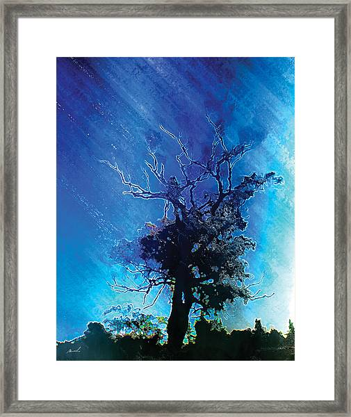 Electric Tree Framed Print by The Art of Marsha Charlebois