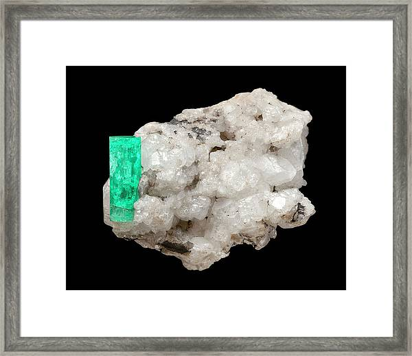 Emerald Framed Print by Natural History Museum, London