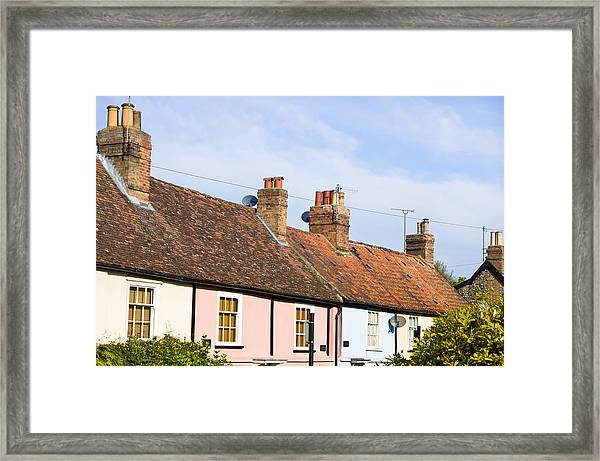 English Cottages Framed Print