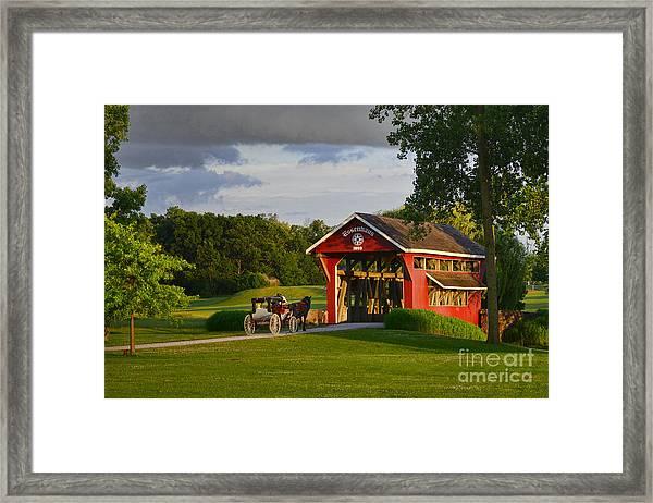 Essenhaus Covered Bridge Framed Print