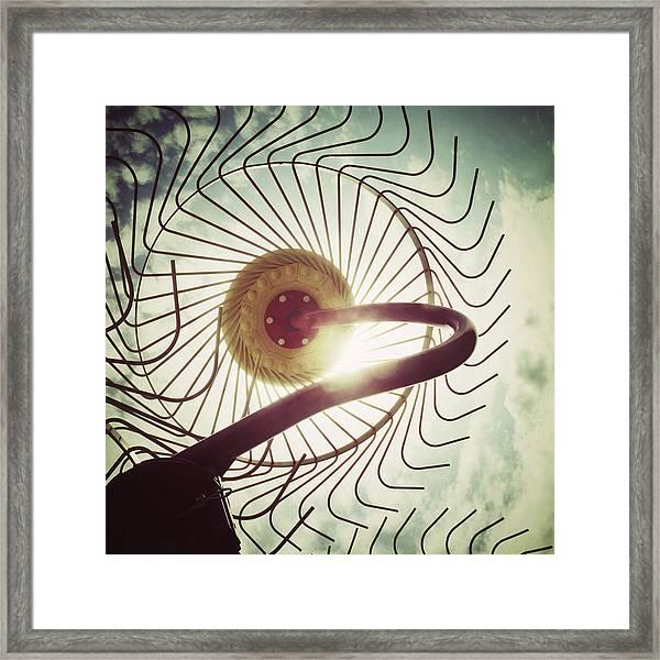 Eye Harvest Framed Print