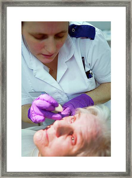 Eye Surgery Framed Print by Gustoimages/science Photo Library