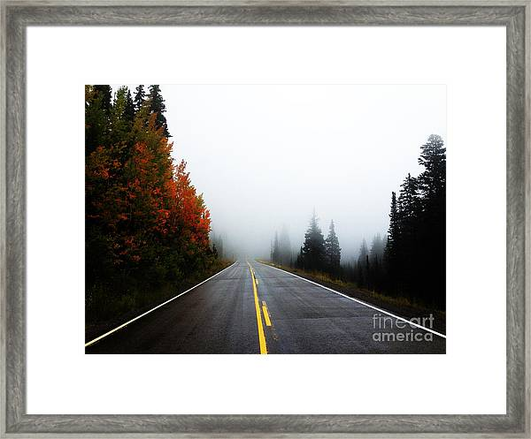 Framed Print featuring the photograph Fall Drive by Kate Avery