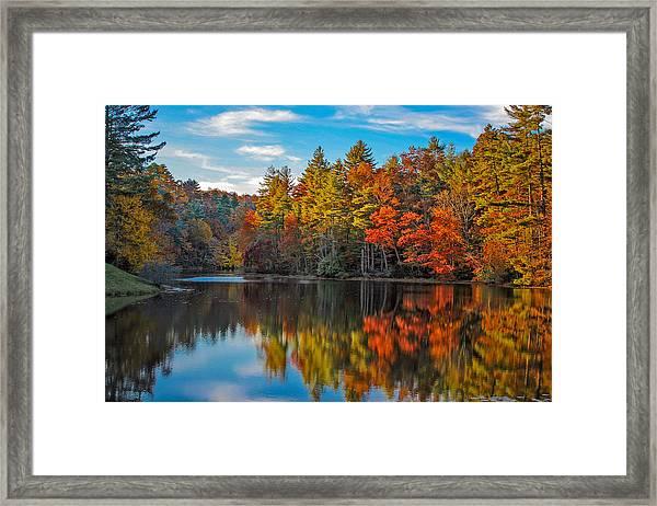 Fall Reflection Framed Print