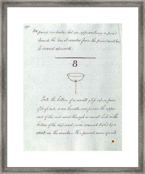 Faraday's Notes On Tatum's Lectures Framed Print