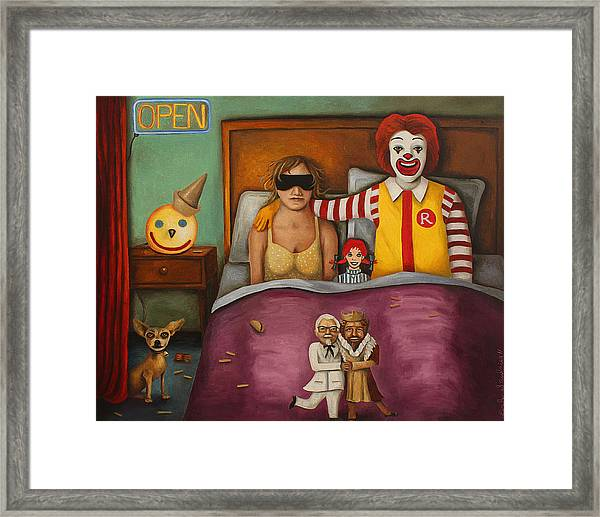 Fast Food Nightmare Framed Print