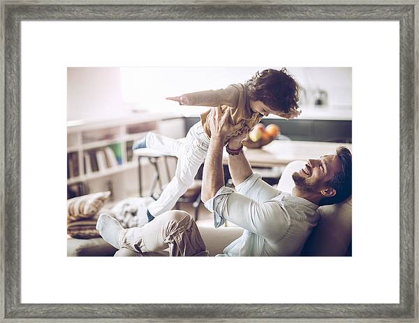 Father And Son Framed Print by Geber86