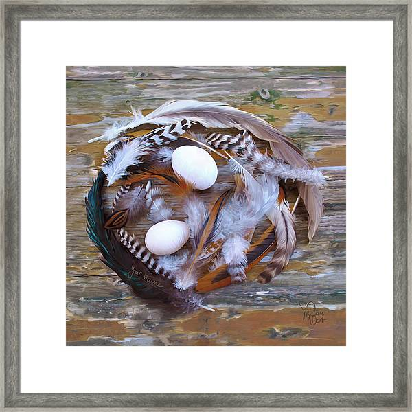 1. Feather Wreath Example Framed Print