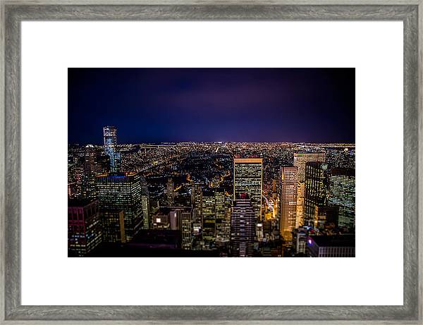 Field Of Lights And Magic Framed Print