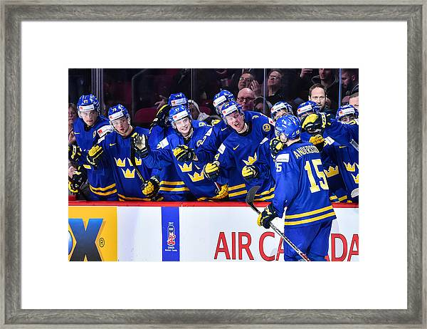 Finland V Sweden - 2017 IIhf World Junior Championship Framed Print by Minas Panagiotakis