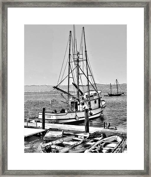 Fishing Boat Aquero Framed Print