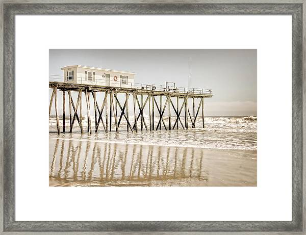 Framed Print featuring the photograph Fishing Pier by Steve Stanger