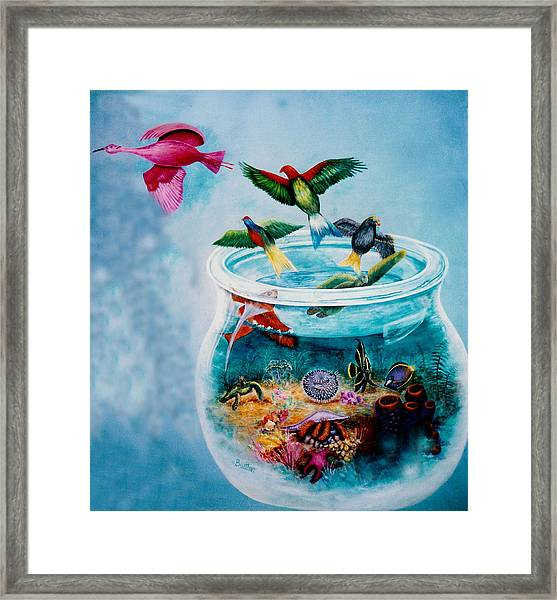 Framed Print featuring the painting Flight To Freedom by Lynn Buettner