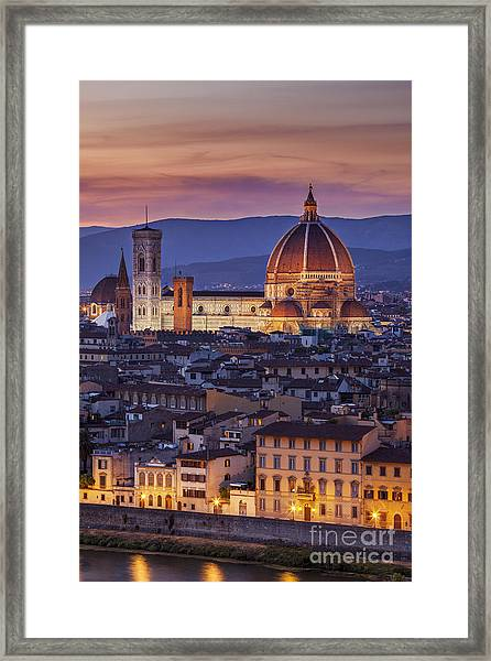 Framed Print featuring the photograph Florence Duomo by Brian Jannsen