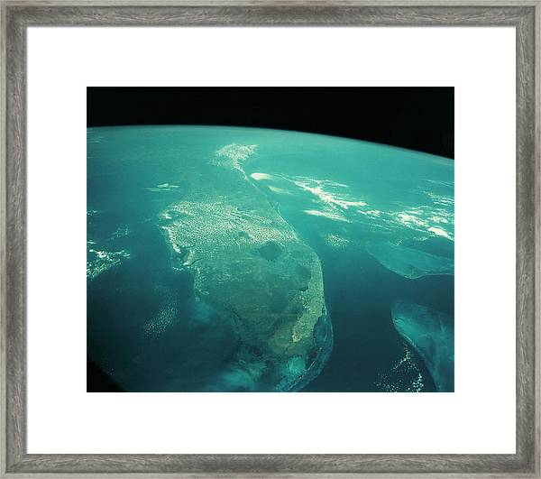 Florida From Space Framed Print by Nasa/science Photo Library