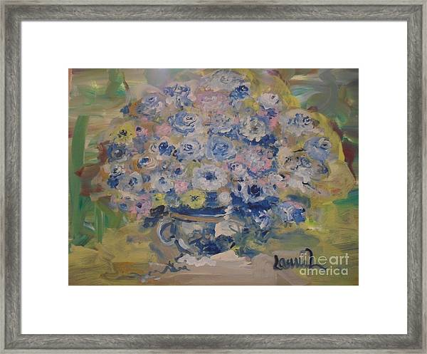 Flow Bleu Framed Print