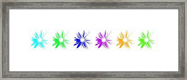 Flowers On White Framed Print