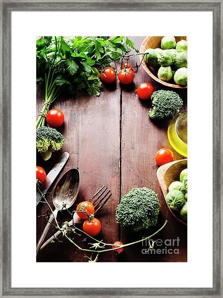 Food Ingredients Framed Print