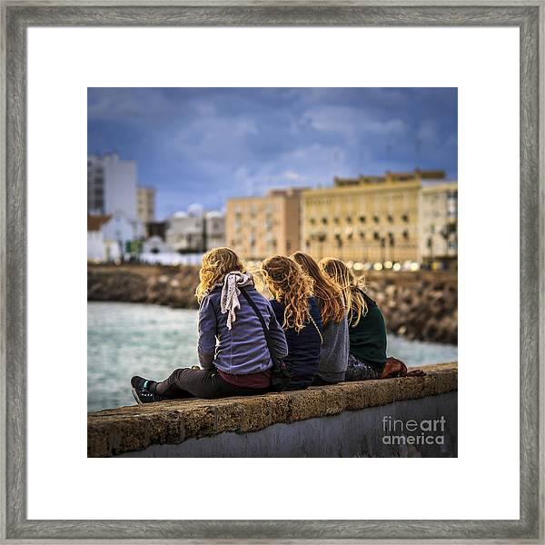 Foreign Students Cadiz Spain Framed Print