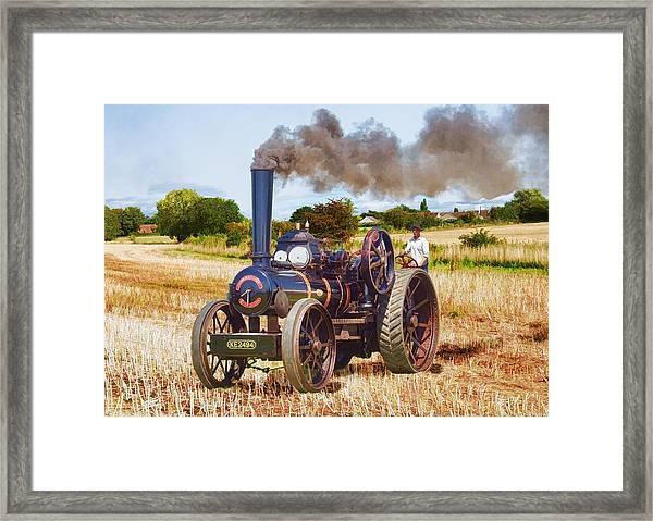 Fowler Ploughing Engine Framed Print