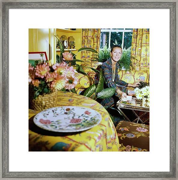 Francoise De La Renta At Home Framed Print by Horst P. Horst