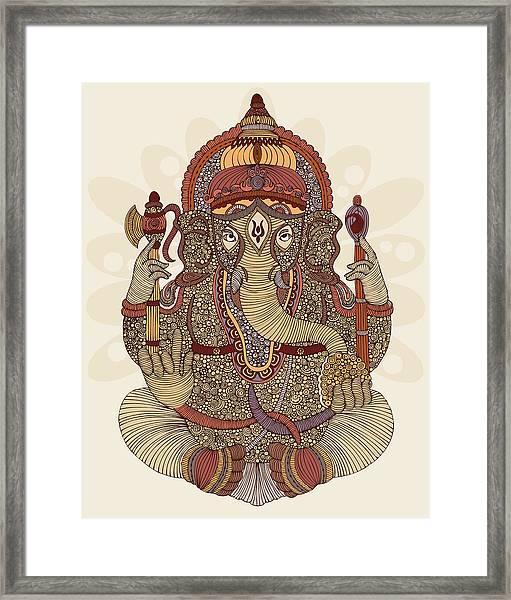 Ganesha Framed Print by Valentina Ramos