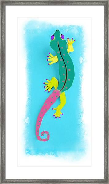 Gecko Two Framed Print