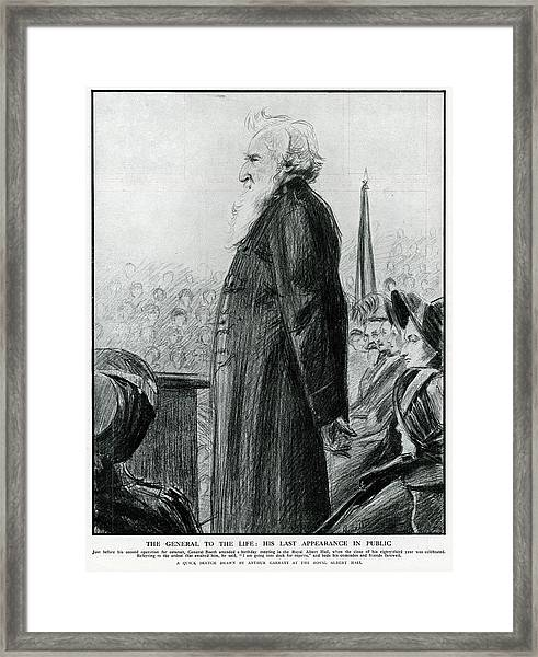General William Booth  Founder Framed Print by Mary Evans Picture Library