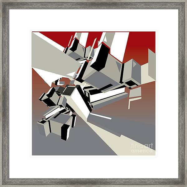 Geometric Design Abstract Background Framed Print