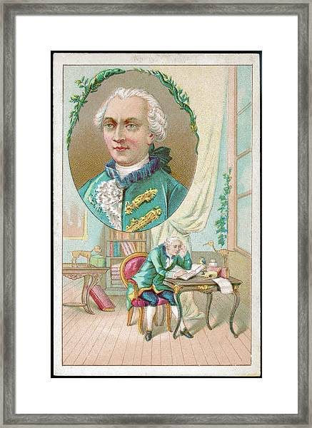 Georges-louis Leclerc Alias Buffon Framed Print by Mary Evans Picture Library