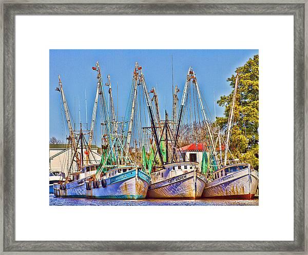 Georgetown Shrimpers Framed Print