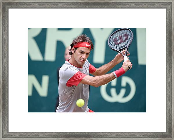 Gerry Weber Open - Day 7 Framed Print by Thomas F. Starke