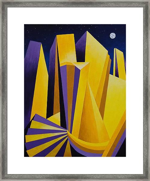 Golden City 2 Framed Print