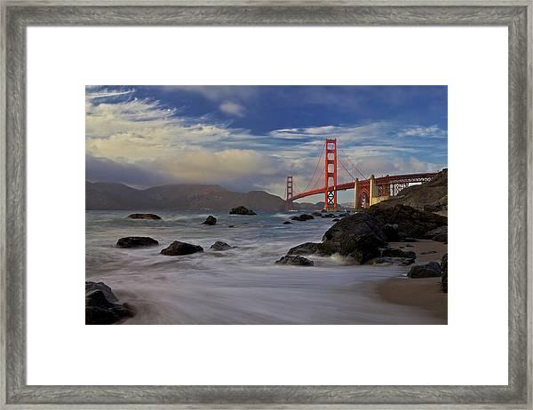Golden Gate Bridge Framed Print by Evgeny Vasenev